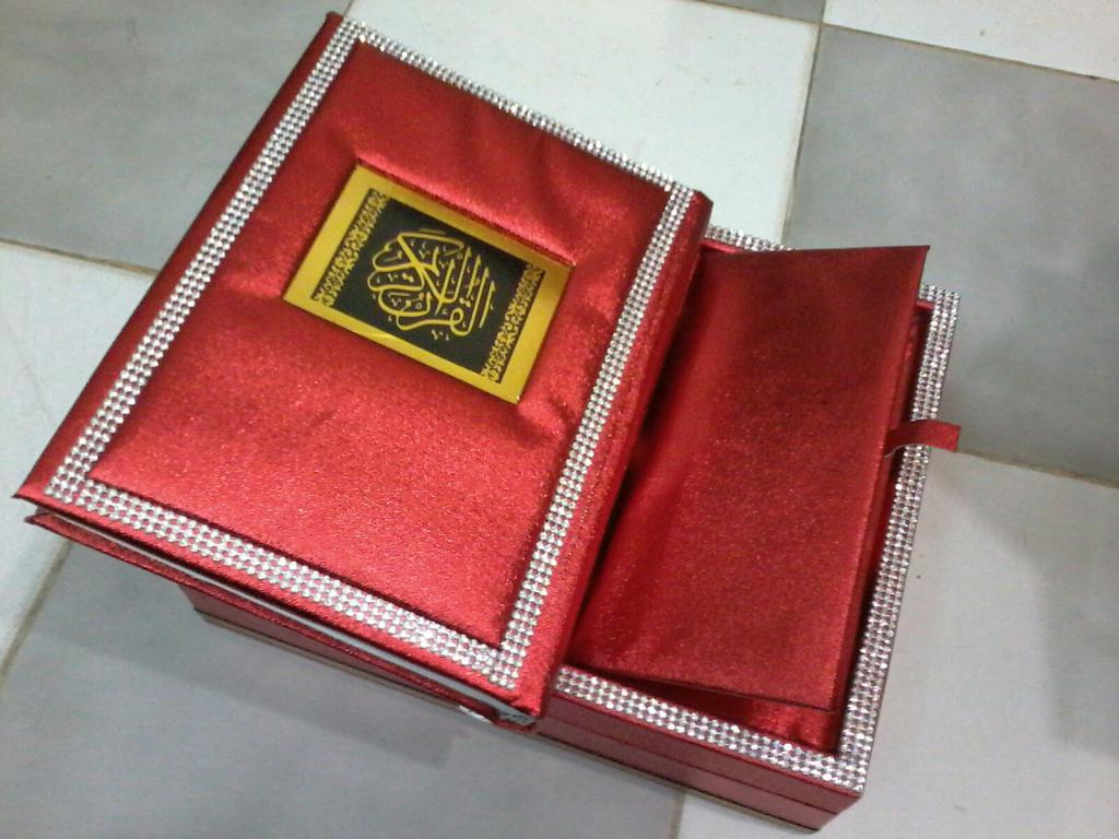 Quran With Fancy Box Red Color